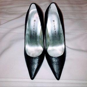 Michael Pointed Toe Snakeskin heels
